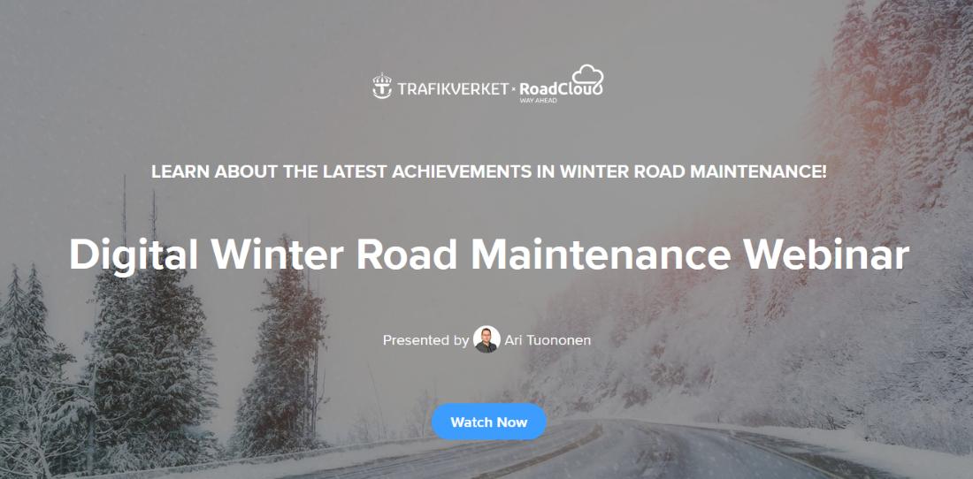 Digital Winter Road Maintenance Webinar with Trafikverket