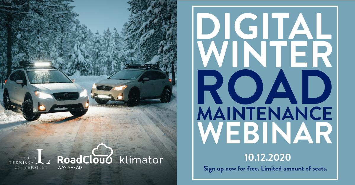 Digital Winter Road Maintenance Webinar (On-Demand)
